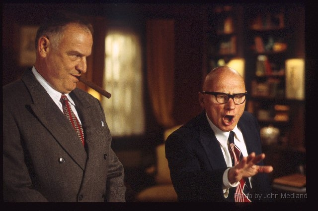 Bill Smitrovich and James Tolkan in NERO WOLFE by John Medland